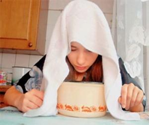 При простуде полезно дышать картофельным отваром