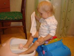 Ножная горчичная ванна ребенку