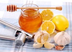 Чеснок, мед, лимон
