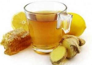 Имбирный чай с лимоном и с медом