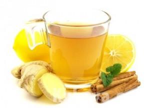 Имбирный чай с медом и с лимоном
