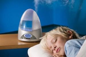 Использование  увлажнителя воздуха